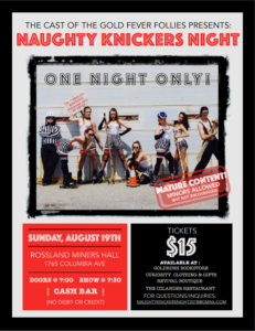 Naughty Knickers Night 2018 Poster